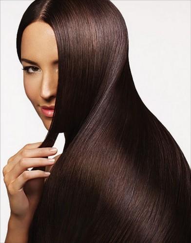 Кератиновое восстановление и разглаживание волос средней длины